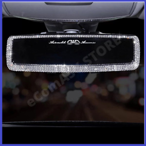 Car Rearview Mirror Decor Charm Crystal Bling Diamond Ornament Universal Hanging