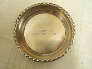 Sterling Silver Nut Or Candy Dish Decorative Border