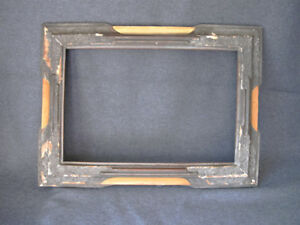 Antique Art Deco Creamy Silvered Gesso Wooden Picture Frame 552a