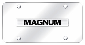 Dodge Magnum Name Chrome On Chrome Plate Stainless Steel License Plate