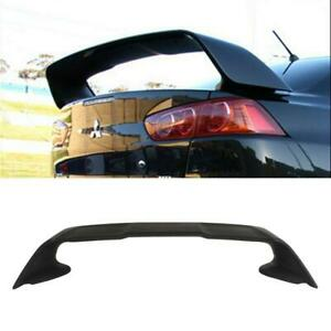 Fit 2008 2017 Mitsubishi Lancer Evo Abs Black Rear Trunk Spoiler Wing