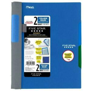 Five Star Advance Spiral Notebook 2 Subject College Ruled Blue