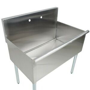 16 gauge Stainless Steel One Compartment Commercial Utility Sink 36 X 21 X 1