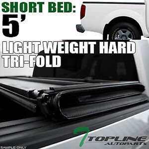 Topline For 2005 2019 Nissan Frontier 5 Ft Bed Lw Hard Tri Fold Tonneau Cover