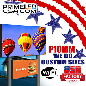 Full Color Led Digital Sign 10mm Hd Size 3ft X 6ft Outdoor Text Photo Video
