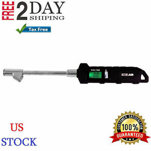 Digital Air Tire Inflator Compressor Swivel Chuck Metal Dual Head Pressure Gauge