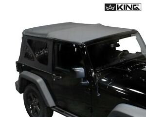 10 18 Jeep Wrangler Jk 2 Door Premium Replacement Soft Top With Tinted Windows