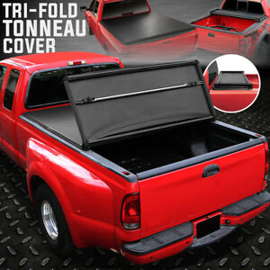 For 80 96 Ford F150 F250 6 5 Ft Short Bed Soft Top Tri fold Trunk Tonneau Cover