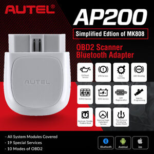 Autel Bluetooth Obd2 Scan Tool For Android Car Obd Ii Engine Data Code Reader Us