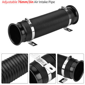 3 Inch 76mm Universal Car Cold Air Intake Inlet Pipe Flexible Duct Tube Hose Kit