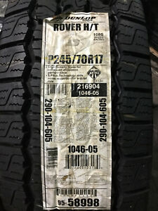 1 New 245 70 17 Dunlop Radial Rover H T Tire
