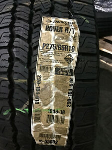 4 New P 275 65 18 Dunlop Rover H T Tires