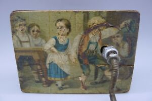 Rare Hand Painted Antique C 1890 Children Wood Music Box Must See Estate Find
