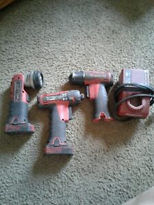 Snap On Bit Driver Red Model Cts761 impact Light 2batteries Charger Nice