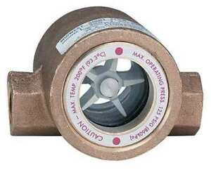 Dwyer Instruments Sfi 300 3 4 Double Sight Flow Indicator bronze 3 4in