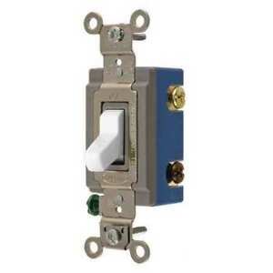 Hubbell Wiring Device kellems Hbl1203w Wall Switch white 1 2 Hp 3 way Switch