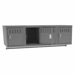 Tennsco Bs1 121812 4mg Wall Mnt Locker 4 Person 36wx18dx12h gry
