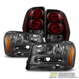 2002 2009 Chevy Trailblazer Replacement Headlights tail Brake Lamps Set 02 09