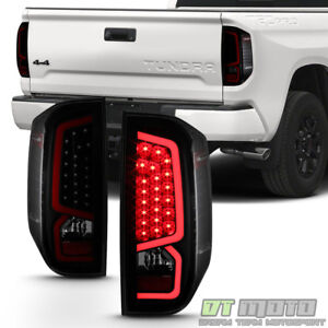 For Black Smoked 2014 2019 Toyota Tundra Led Tube Tail Lights Lamps Left right