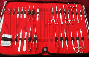 Veterinary Ophthalmic Eye Micro Surgery Surgical Instruments Kit 28 Pcs German