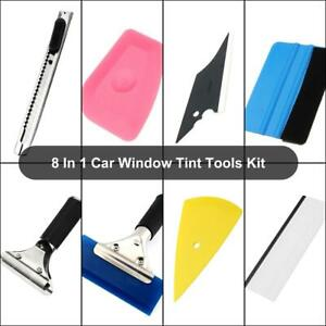 8 Pcs Car Window Tint Tools Kit Vinyl Film Tinting Scraper Squeegee Applicator