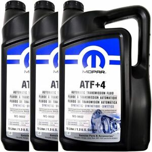 3 Pack Mopar Atf 4 Automatic Transmission Fluid 68218058ac 5 Liter