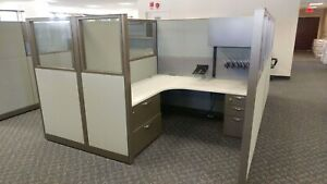 Used Office Cubicles Steelcase Answer 6x6 Cubicles