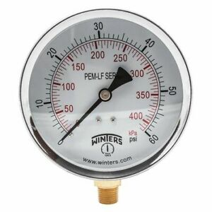 Winters Pem222lf Gauge pressure 0 To 60 Psi 4 In