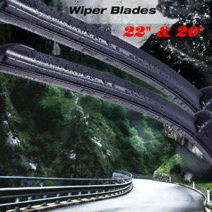 22 20 Windshield Wiper Blades High Quality Beam Premium Hybrid Silicone J Hook