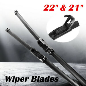 Front Windshield Wiper Blades 22 21 Oem Quality All Season J Hook Frameless