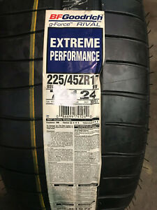 2 New 225 45 17 Bfgoodrich G force Rival Extreme Performance Tires