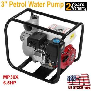New 3 Inch 6 5 Hp Petrol High Flow Water Transfer Pump Fire Fighting Irrigation
