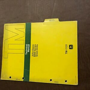 John Deere 8000 Grain Drill Service Repair Technical Manual Tm 1131
