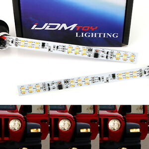 White amber Led Sequential Flash Turn Signal Light Kit For 18 Jeep Wrangler Jl