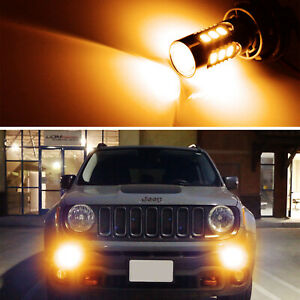 2 3000k Amber Yellow Led Daytime Running Light Bulbs For 2015 19 Jeep Renegade
