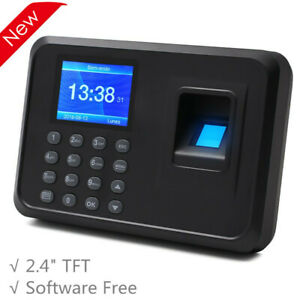 F01 Biometric Fingerprint Time Clock Employee 2 4 Software free Multi language
