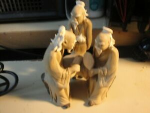 5 Old Men Chinese Sitting Around In A Group