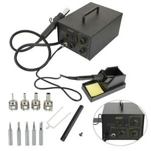 852d 2in1 New Smd Soldering Iron Hot Air Rework Station Hot Air Gun 700w 110v