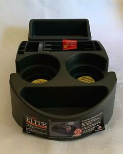 Elite Organizer Charcoal Hard Plastic Car Truck Universal Cup Holder Console Nos
