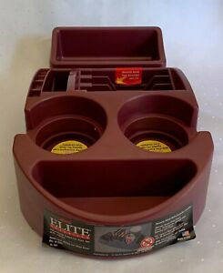 Elite Organizer Maroon Plastic Car Truck Universal Cup Holder Console 2002 Nos
