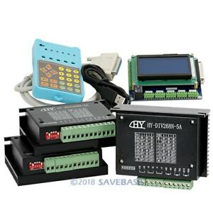 Cnc 3axis Kit Professional Breakout Board With 3 Tb6600hg Stepper Motor Driver