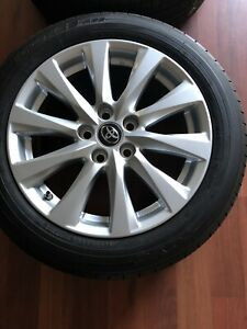 17 Wheels Rims And Tires 5 Lug Set Of 4 Silver Toyota Camry