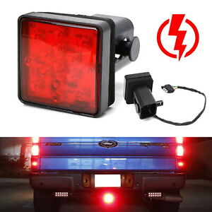 Red Lens 15 Led Tow Hitch Receiver Strobe Brake Light For Truck Suv 2 Inch Hole