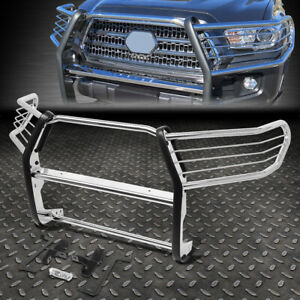 For 16 19 Toyota Tacoma Stainless Steel Front Bumper Brush Grille Guard Frame