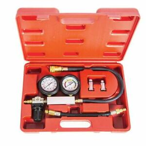 Automotive Engine Cylinder Leak Leakdown Compression Tester Detector Kit W Gauge