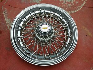 15 Wire Spoke Hubcap Wheelcover Chevy Caprice 1 Used Oem H 3150b P 14039162
