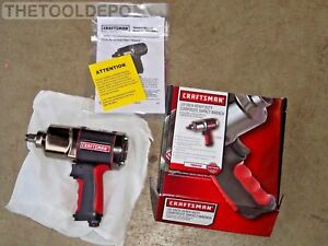 Heavy Duty Twin Hammer Craftsman 1 2 Composite Air Impact Wrench 580 Lbs Torque