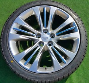 Factory Cadillac Ct6 Wheels Tires Set New Genuine Gm Oem Platinum 20 In Cts Xts
