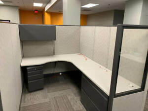 Used Office Cubicles Allsteel Concensys 6x6 5 Cubicles