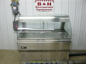 Bki 4 Curved Full Glass Hot Food Merchandiser Heated Display Case Warmer Csw 4